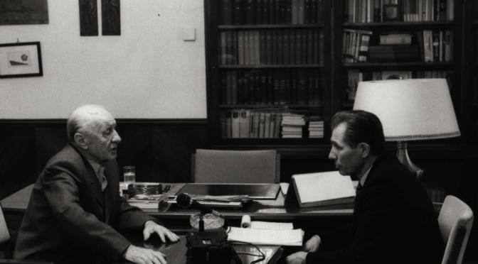Kádár János és Kanyó András 1989-ben (Személyes Történelem Kiadó)