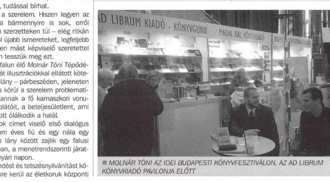 Recenzió a Tépődésekről a Tarjáni Városlakó Magazinban
